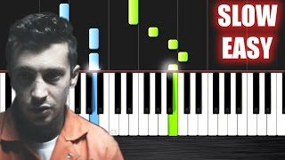 twenty one pilots: Heathens (from Suicide Squad) - SLOW EASY Piano Tutorial by PlutaX