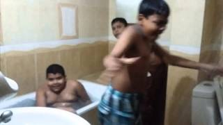 Funny bath video bangladesh