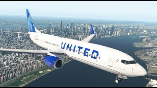 The Very First Flight of United Airlines New Livery | X-Plane 11