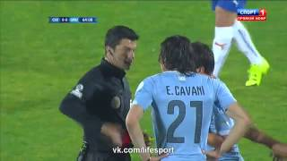 Football video : Edinson Cavani red card at Copa Amercia 2015