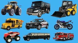 Learn Vehicles Cars and Trucks Names in English for Children