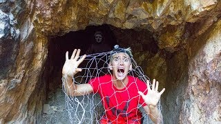 TRAPPED BY THE GAME MASTER WHILE EXPLORING TOP SECRET ABANDONED CAVE!!