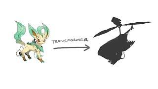 EEVEELUTIONS ( Leafeon ) - Pokemon Characters As Transformer.