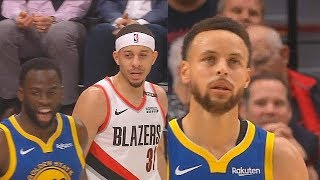 Seth Curry Trash Talks Draymond Green & Warriors Shock Blazers With Comeback In Game 3!