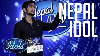Nishan Bhattarai Nepal Idol 2017 Audition | Idols Global