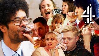 Best Of Richard Ayoade & Celeb Friends Drinking in Travel Man