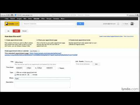 Google Calendar tutorial: Creating appointment slots | lynda.com