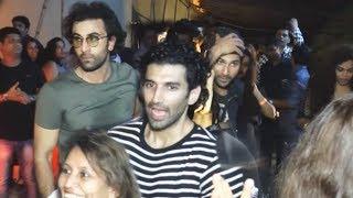 Ranbir Kapoor, Varun Dhawan, Aditya, Ileana D'Cruz PARTIES At Su Casa, Bandra