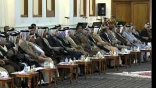 الشيخ راعد ال سليمان فى توقيع ميثاق الشرف بين شيوخ العشائر و السيد عمار الحكيم