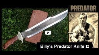 Our Billy's Predator II Knife, Influenced by the Movie Predator.  Just Released! See Demos!