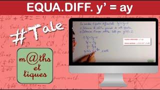 Résoudre une équation différentielle du 1er ordre (1)