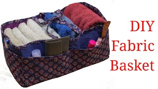 DIY Multi Purpose Organizer from Old Cloth | Fabric basket making step by step