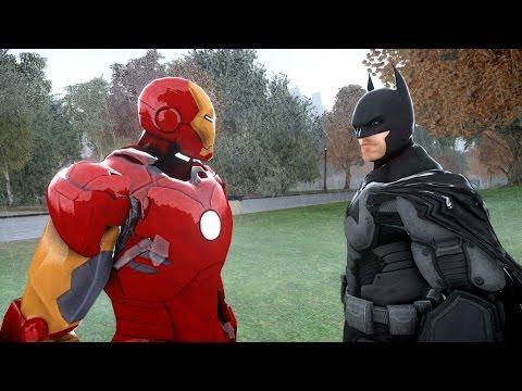 BATMAN VS IRON MAN EPIC SUPERHEROES BATTLE