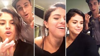 Selena Gomez Hanging Out With David Henrie On Snapchat | Full Video