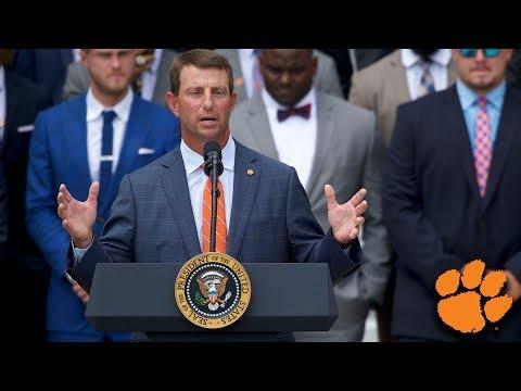 Dabo Swinney s Speech at Clemson s White House Visit