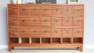 Making a Large Apothecary Cabinet