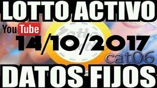 LOTTO ACTIVO DATOS FIJOS PARA GANAR  14/10/2017 cat06