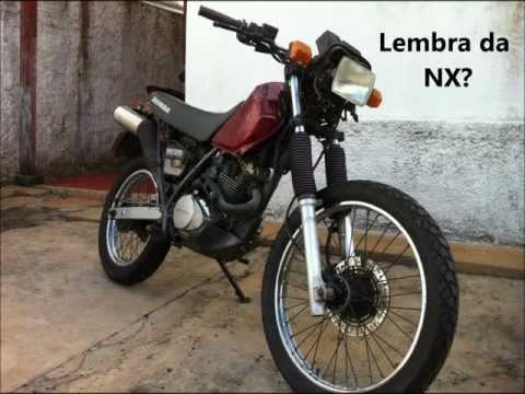 HONDA NX200 com roupa de CRF230