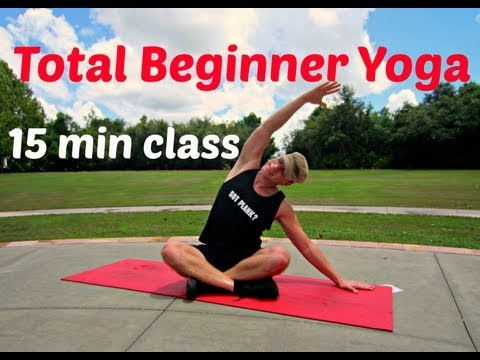 15 min Yoga for Complete Beginners Class #beginneryoga