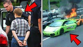 ٥ أطفال مجرمين حطموا سيارات الناس بشكل لا يصدق ....!!!