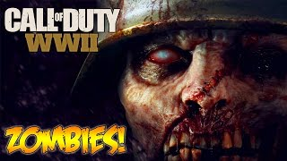 CALL OF DUTY WW2 - ZOMBIES CONFIRMED + GAMEPLAY TRAILER LIVE REVEAL REACTION! (COD WW2)