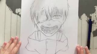 How to draw KANEKI KEN (Tokyo Ghoul) - part one