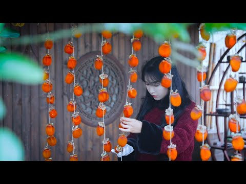 愿一串串的红柿子给大家带来新一年的柿柿顺心❤️May the red red persimmons bring you a happy prosperous new year