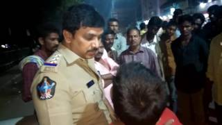 How small boy managed police. Boy driving bike in main road caught by police
