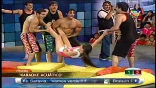 COMBATE Georgette es arrojada a la Piscina [Descuido Calzon] 05/02/13 MBA