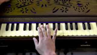 How to play - Tujhe Dekha Toh Yeh Jaana Sanam on Harmonium/Keyboard