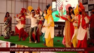 Sharukh Khan and Deepika Padukone at LPU