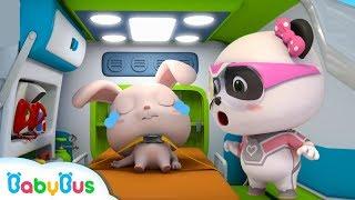 Super Panda Rescues Rabbit Momo   Super Panda Rescue Team   Firefighter Story   BabyBus Cartoon