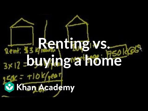 Renting vs. Buying a home | Housing | Finance & Capital Markets | Khan Academy