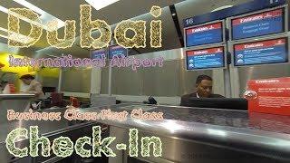 GoPro   Dubai International Airport   Terminal 3 First Class/Business Class Check-In   Flight EK29