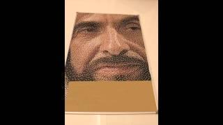 Sheikh Zayed Pushpins Portrait