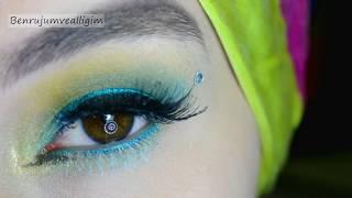 Turkuaz - Yeşil Tonlarında Göz Makyajı #İnstagram