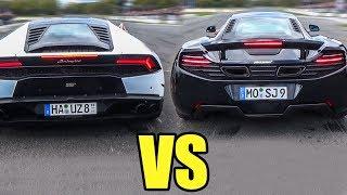 Lamborghini Huracan vs McLaren MP4-12C - DRAG RACE!