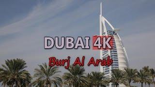 Ultra HD 4K Dubai Travel UAE Tourism Burj Al Arab Hotel Tourist Sightseeing UHD Video Stock Footage