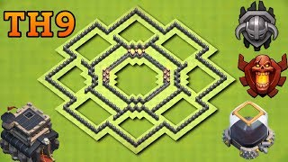 New Town Hall 9 Defense Layout (Th9) Trophy Base 2017 Dark Elixir Protective Base | Clash of Clans
