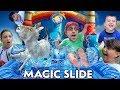SLIDING on MAGIC SLIDES w/ Teleporting Mike (FV Family Vlog)