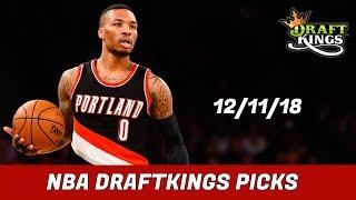 12/11/18 NBA DraftKings Picks - Money Six