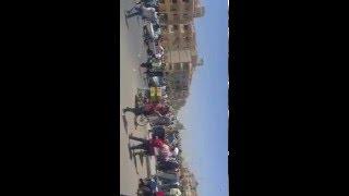 اعتداء امين شرطه علي أحد المواطنين بسلاح آلي في التجمع الأول