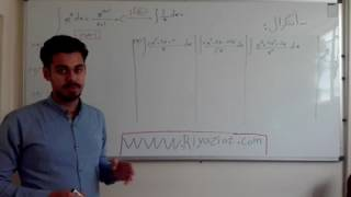 فیلم آموزش انتگرال و حل چند مثال آموزشی