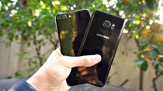Samsung Galaxy S7 Edge Black Pearl 128GB Unboxing vs Jet Black iPhone 7 Plus & More! (4K)