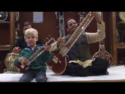 Taj Mahal and Sitar:Rug Store