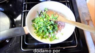 Porova pita s kuhanim pršutom