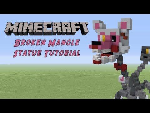 Minecraft Tutorial: Broken Mangle (FNAF) Statue