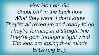 Ramones - Hey Ho, Let's Go Lyrics