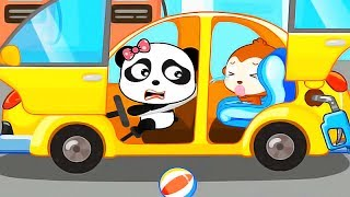 Baby Panda Learn Transportation - Play With Fun Cars & Vehicles - Educational Baby bus Games
