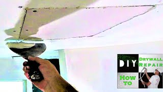 How to repair a drywall ceiling hole fast and easy!